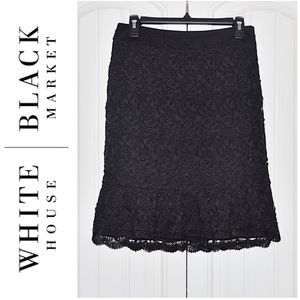 WHBM | New Lace Bodycon Skirt Size 4